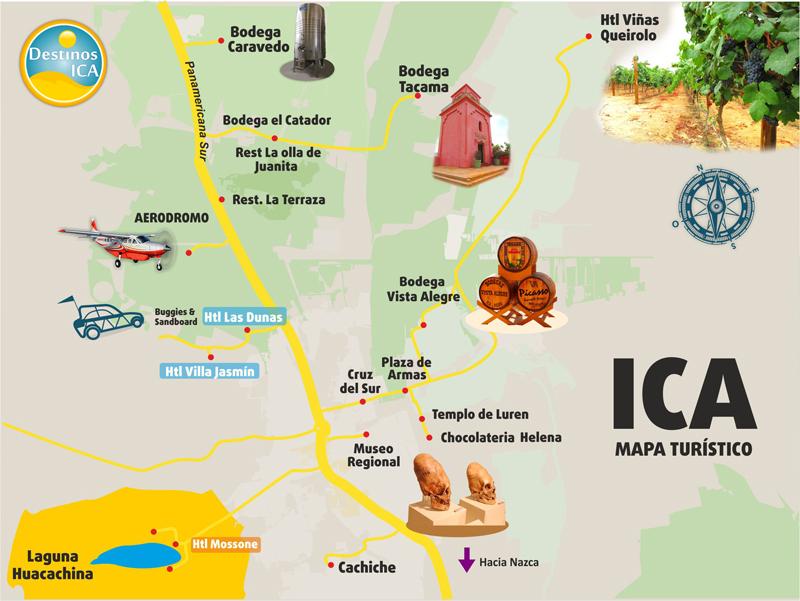 Mapa Turistico Ica Destinos Ica