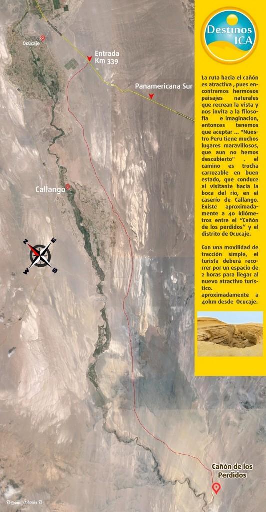 Mapa del Cañon de los Perdidos