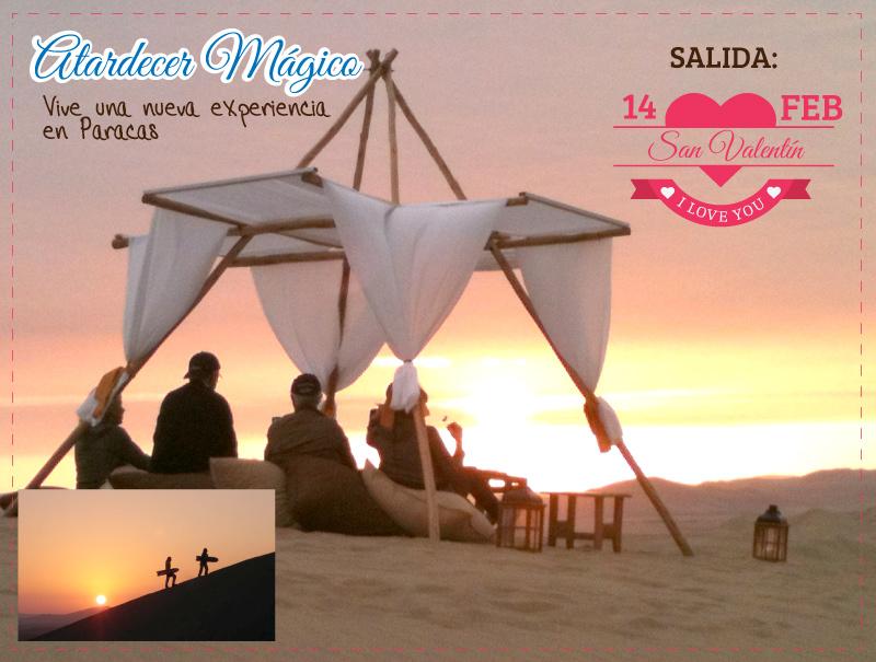 Atardecer mágico en Paracas